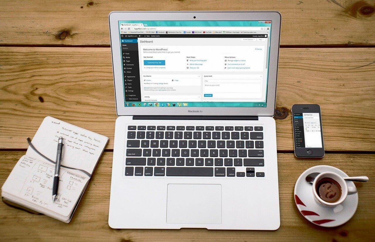 laptop i Wordpress